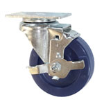 "4""  Swivel Caster with Brake and Polyurethane Wheel"