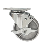 "4""  Swivel Caster with Brake and Semi Steel Wheel"