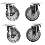 "5"" fryer caster set"