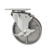 "5""  Swivel Caster with Brake and Semi Steel Cast Wheel"