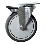 "6"" Swivel Caster with Thermoplastic Rubber Tread"