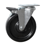 "6"" Caster with Phenolic Wheel and Brake"