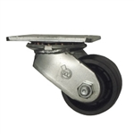 3-1/4 Inch Heavy Duty Low Profile Swivel Caster with Glass Filled Nylon Wheel and Ball Bearings