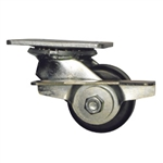 3-1/4 Inch Heavy Duty Low Profile Swivel Caster with Phenolic Wheel, Ball Bearings, and Brake