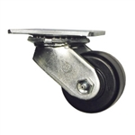 3-1/4 Inch Heavy Duty Low Profile Swivel Caster with Phenolic Wheel