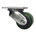 3-1/4 Inch Heavy Duty Low Profile Swivel Caster with Polyurethane Tread Wheel