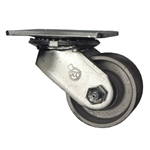 3-1/4 Inch Heavy Duty Low Profile Swivel Caster with Semi Steel Wheel and Ball Bearings