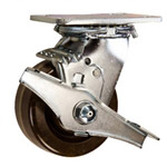 4 Inch Swivel Caster with Phenolic Wheel and Brake