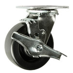 4 Inch Swivel Caster with Polyolefin Wheel w/Brake