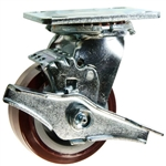 4 Inch Swivel Caster with Polyurethane Tread on Poly Core Wheel and Ball Bearings
