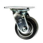 4 Inch Swivel Caster with Rubber Tread on Aluminum Core Wheel and Ball Bearings