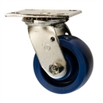 4 Inch Swivel Caster - Solid Polyurethane Wheel with Ball Bearings
