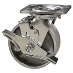 4 Inch Swivel Caster with Semi Steel Wheel and Brake
