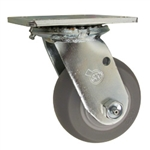 "4"" Swivel Caster with Thermoplastic Rubber Tread Wheel and Ball Bearings"