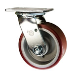 5 Inch Swivel Caster with Polyurethane Tread on Aluminum Core Wheel