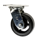 5 Inch Swivel Caster with Rubber Tread Wheel and Ball Bearings