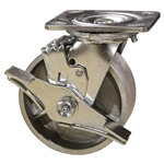 5 Inch Swivel Caster with Semi Steel Wheel and Brake