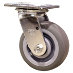 "5"" Swivel Caster with Thermoplastic Rubber Tread Wheel and Ball Bearings"