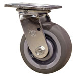 "5"" Swivel Caster with Thermoplastic Rubber Tread Wheel"