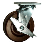 6 Inch Swivel Caster with Phenolic Wheel and Brake