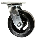 6 Inch Swivel Caster with Rubber Tread Wheel and Ball Bearings