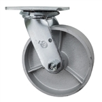 6 Inch Swivel Caster with Semi Steel Wheel and Ball Bearings