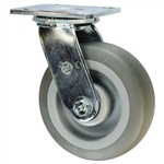 "6"" Swivel Caster with Thermoplastic Rubber Tread Wheel and Ball Bearings"