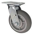 "6"" Swivel Caster with Thermoplastic Rubber Tread Wheel"