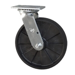 Swivel Caster with Glass Filled Nylon Wheel and Ball Bearings
