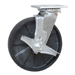Swivel Caster with Brake Glass Filled Nylon Wheel