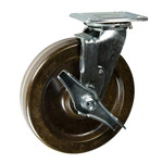 8 Inch Swivel Caster with Phenolic Wheel w/ Brake