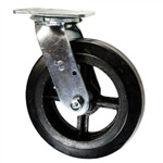 8 Inch Swivel Caster with Moldon Rubber Tread Wheel