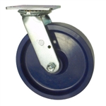 8 Inch Swivel Caster - Solid Polyurethane Wheel with Ball Bearings