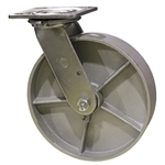 8 Inch Swivel Caster with Semi Steel Wheel and Ball Bearings