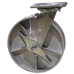 8 Inch Swivel Caster with Semi Steel Wheel, Ball Bearings and Brake