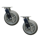 "8"" Swivel Soft Tread Food Service Cart Caster"