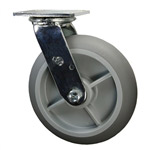 "8"" Swivel Soft Tread Bellman Cart Caster"