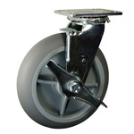 "8"" Swivel Soft Tread Bellman Cart Caster with Brake"
