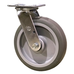 "8"" Swivel Caster with Thermoplastic Rubber Tread Wheel and Ball Bearings"