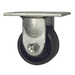3-1/4 Heavy Low Profile Rigid Caster with Glass Filled Nylon Wheel and Ball Bearings