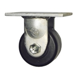 3-1/4 Inch Low Profile Rigid Caster with Phenolic Wheel with Ball Bearings