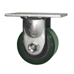 3-1/4 Inch Low Profile Rigid Caster with Polyurethane Tread Wheel and Ball Bearings