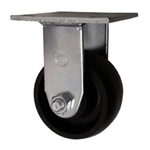 Rigid Caster with Glass Filled Nylon Wheel and Ball Bearings