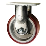 4 Inch Rigid Caster with Polyurethane Tread on Aluminum Core Wheel and Ball Bearings