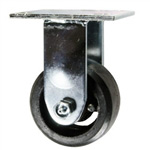 4 Inch Rigid Caster with Rubber Tread Wheel