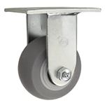 "4"" Rigid Caster with Thermoplastic Rubber Tread Wheel and Ball Bearings"