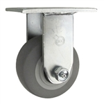 "4"" Rigid Caster with Thermoplastic Rubber Tread Wheel"