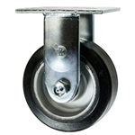 5 Inch Rigid Caster with Rubber Tread on Aluminum Core Wheel and Ball Bearings