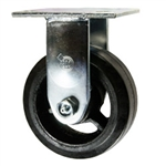 5 Inch Rigid Caster with Rubber Tread Wheel and Ball Bearings