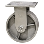 5 Inch Rigid Caster with Semi Steel Wheel and Ball Bearings